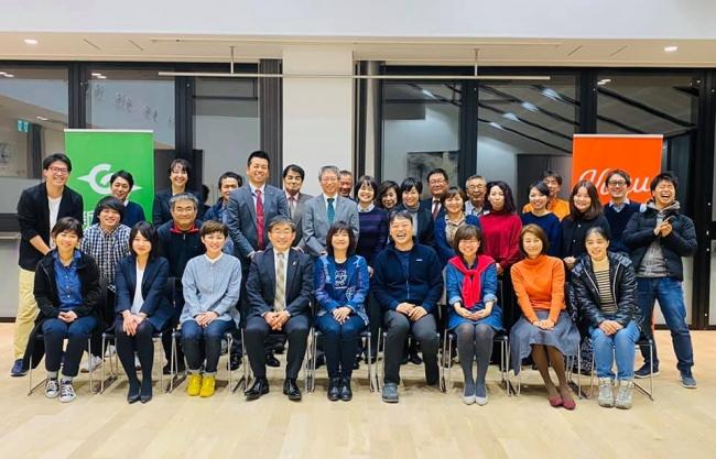 2019年12月に新富町でこゆ財団主催の講座に講師として登壇されたKIGURUMI.BIZ代表取締役の加納ひろみ氏(前列中央)