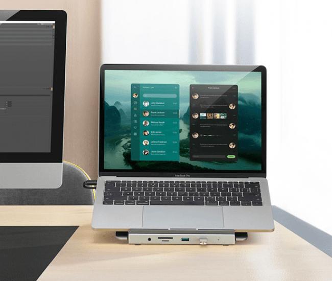 「新しい生活様式」への提案!! テレワークを強力にサポートするマルチコネクタ搭載の超薄型ノートPCスタンド。7月3日(金)よりMakuakeにて販売スタート!