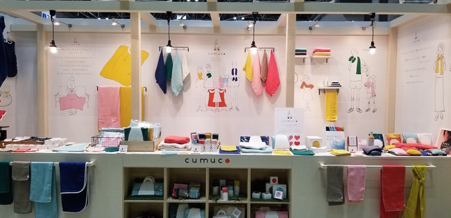 cumuco(クムコ)は三河の多重ガーゼを使い、ハンカチやタオルなど、様々なアイテムを展開しています。